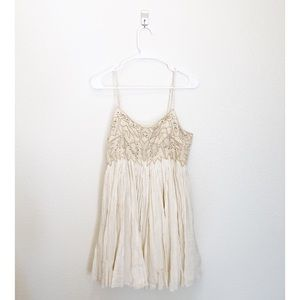 Free People Embroidered Baby Doll Dress